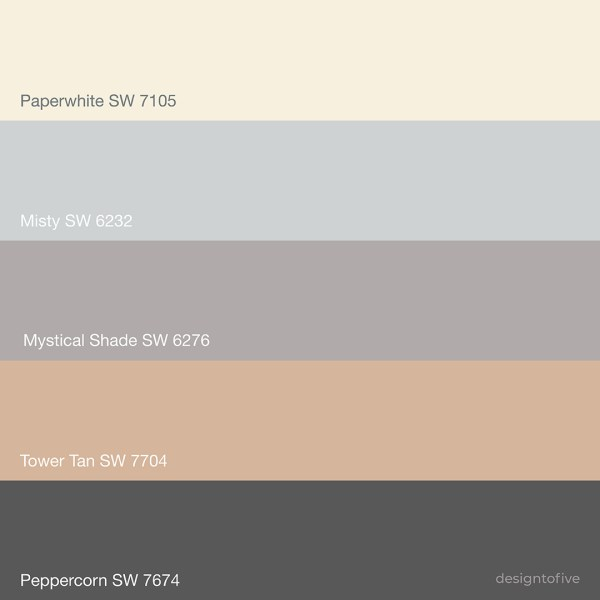 Sherwin Williams Mystical Shade SW 6276 Color Palette -
