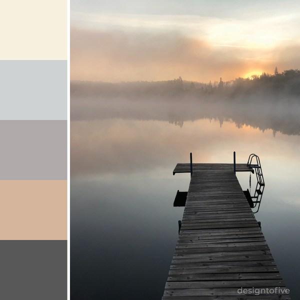 Misty Dock Sunrise - Mystical Shade Color Inspiration