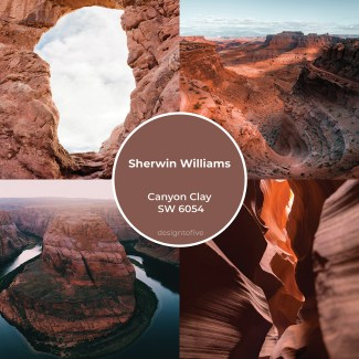 Sherwin Williams - Canyon Clay SW 6054- Canyons Earthy Clay Rock Inspiration