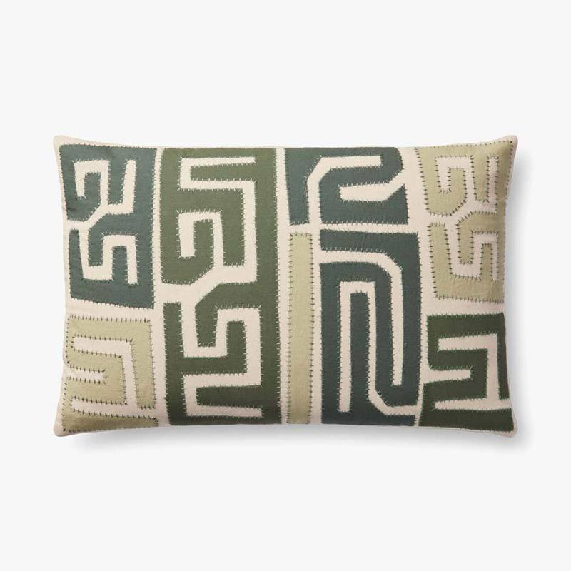 Jungalow - Green Zag Pillow - Shades of Green
