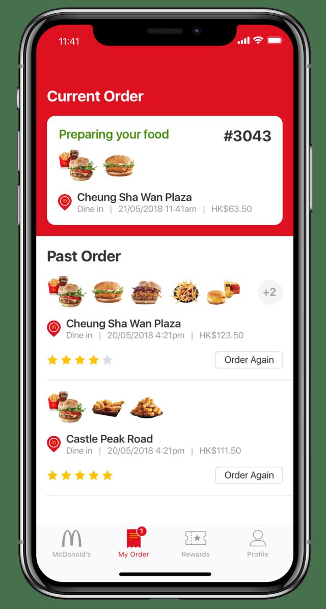 mcdonalds app ui redesign