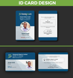 an incredibly innovative and professional looking id card  [ 1654 x 1822 Pixel ]