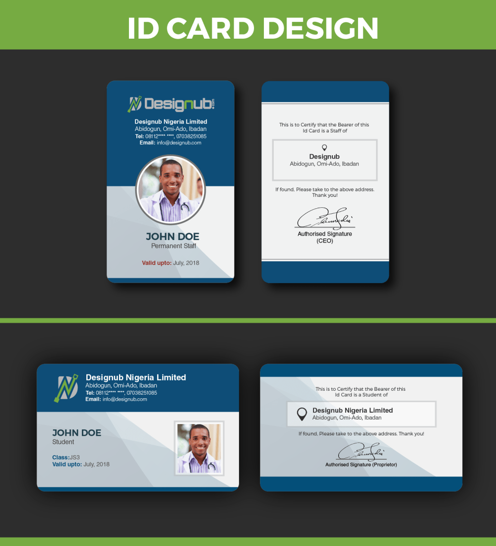 medium resolution of an incredibly innovative and professional looking id card