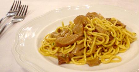 Florence i due G egg noodle and mushroom