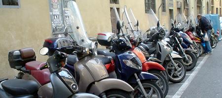 Florence mopeds vespas