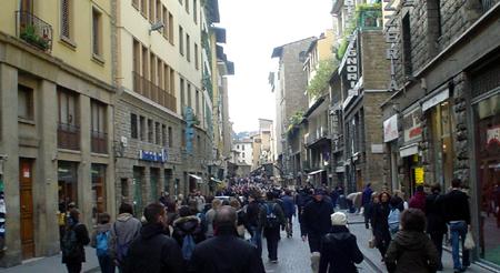 Florence Por Santa Maria shopping street