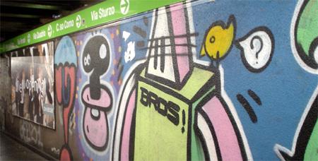milan subway grafitti