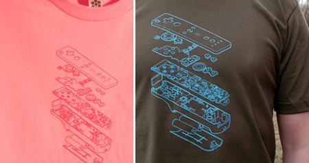 Nintendo Wii controller tshirt Tii