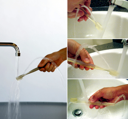 Brush and Rinse toothbrush fountain