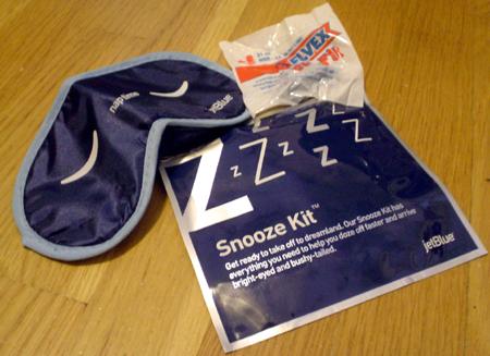 jet blue snooze kit