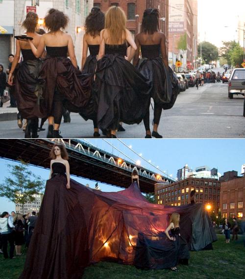 party dress seamless mit fashion show