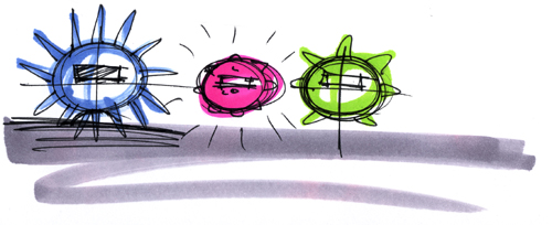 Anemone Alarm Clock doodle sketch