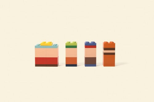 Famous Cartoon Characters In Minimalist Lego Form