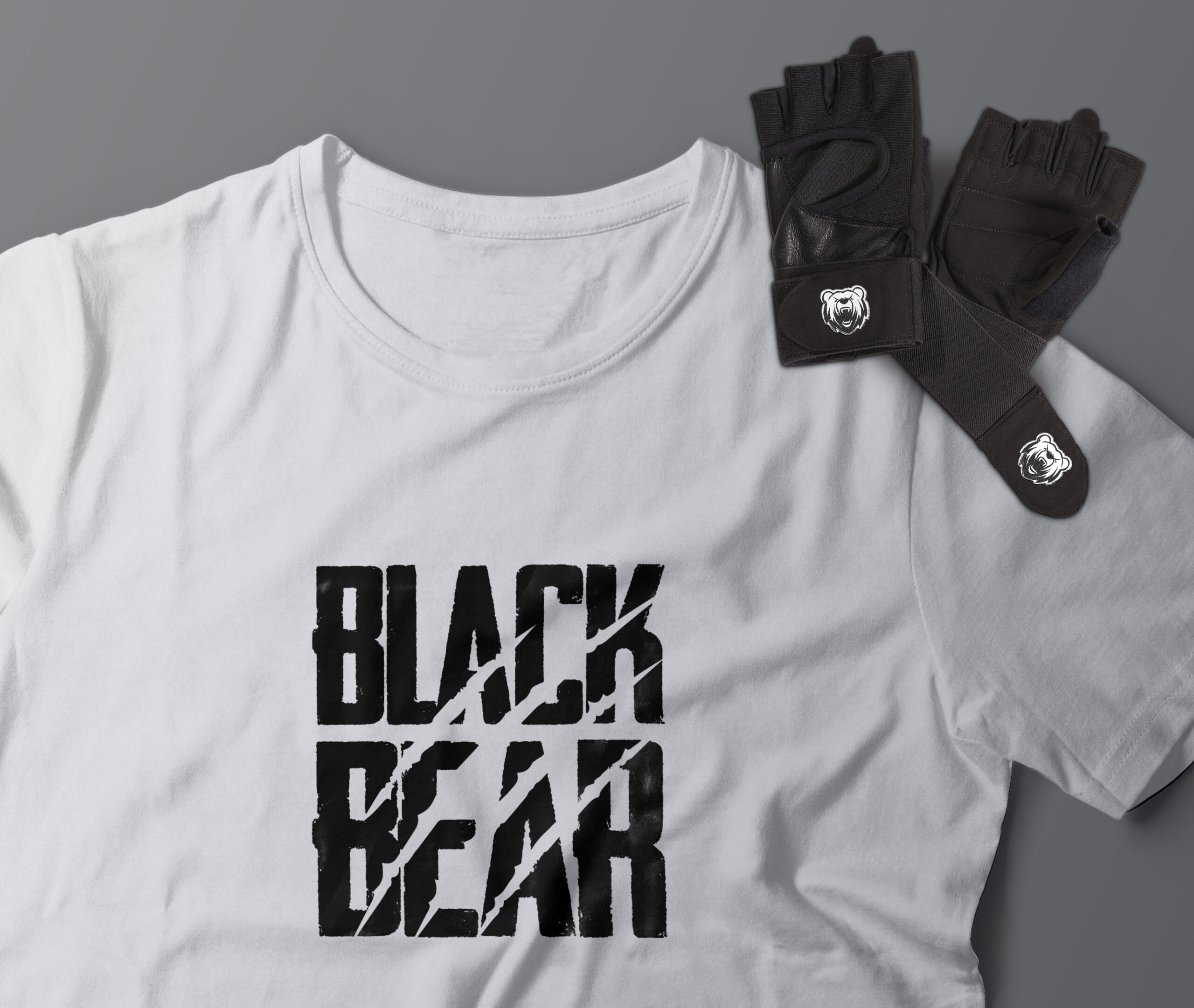 camiseta logo black bear