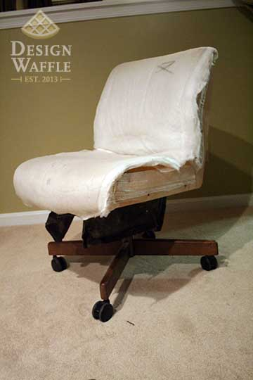 reupholster office chair with arms high chairs on sale makeover   design waffle