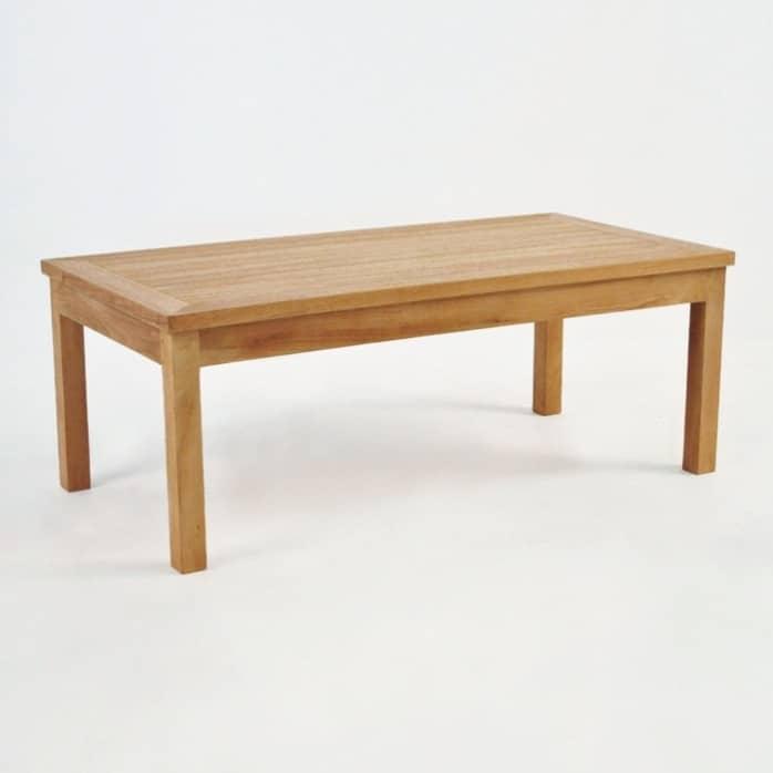 classic rectangle teak coffee table patio furniture design warehouse nz