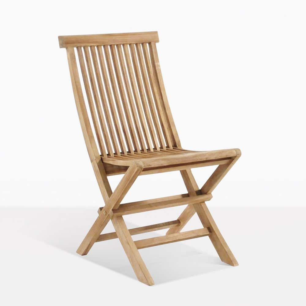 Prego Teak Folding Dining Chair  Design Warehouse NZ