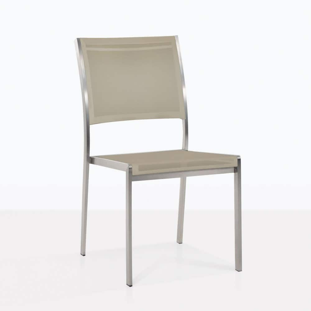 Stacking Dining Chairs Classic Batyline Stacking Dining Chair Taupe