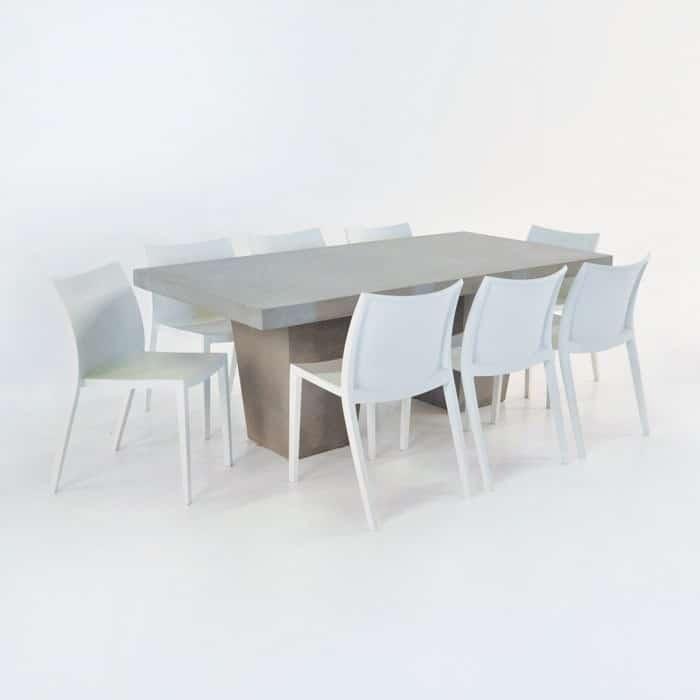 outdoor wicker chairs nz magis spun chair design warehouse | concrete table set & 8