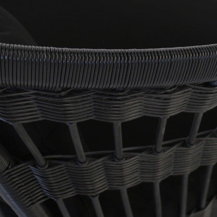 Sahara Black Wicker Relaxing Chair  Patio Furniture