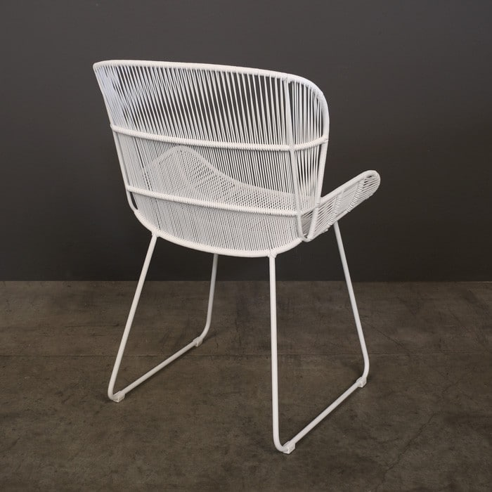 Nairobi Woven Dining Arm Chair White  Outdoor Dining