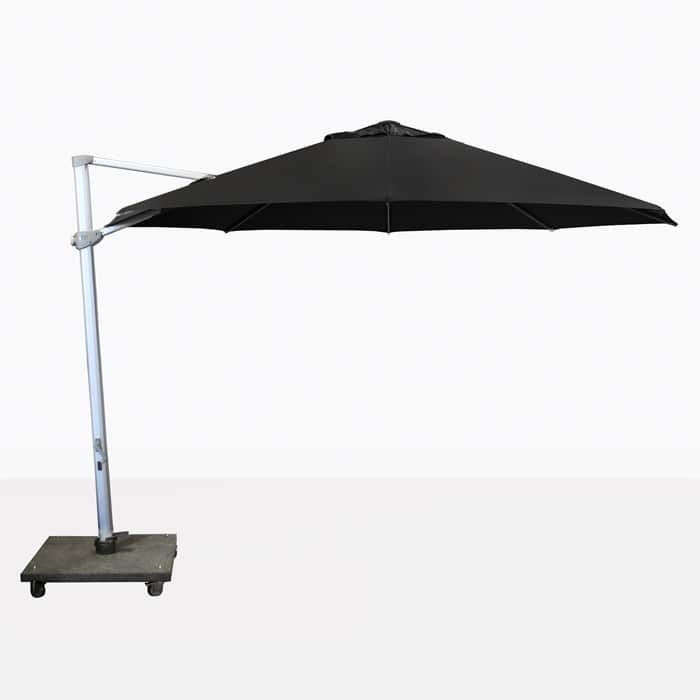 outdoor wicker chairs nz leather desk chair antigua 3.5 metre round cantilever umbrella (black) | design warehouse