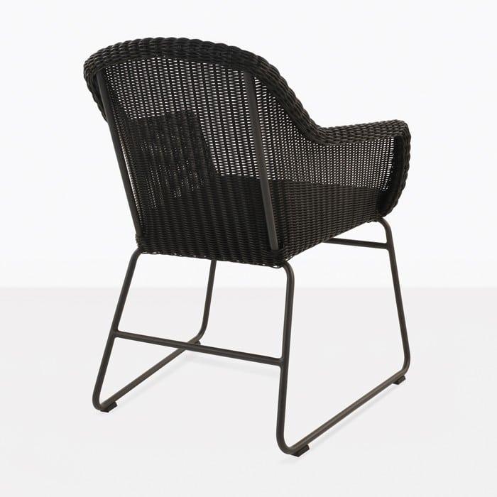 Harbour Wicker Dining Chair Black  Design Warehouse NZ