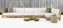 ibiza outdoor teak sectional furniture