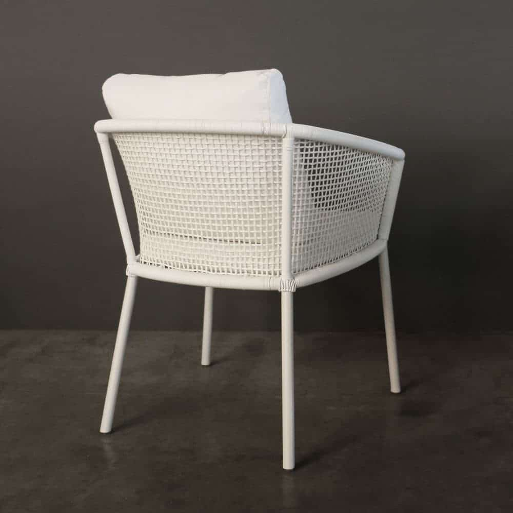 sunbrella outdoor chair cushions office attached table washington woven dining (white) | design warehouse nz
