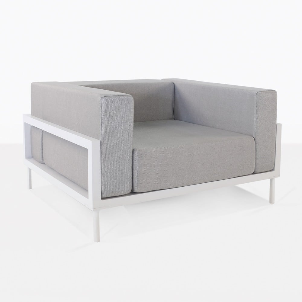 Kobii Outdoor Aluminium Club Chair White  Design