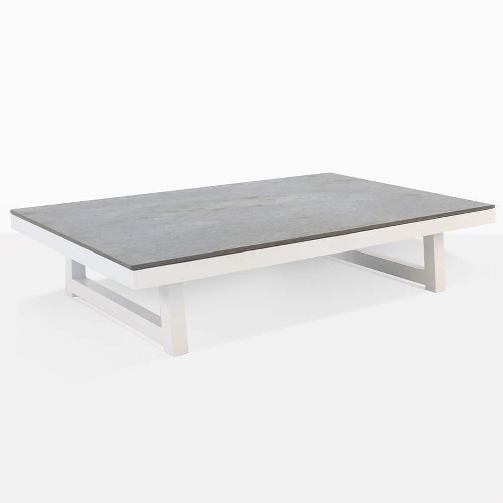 westside aluminium white outdoor coffee table design warehouse nz