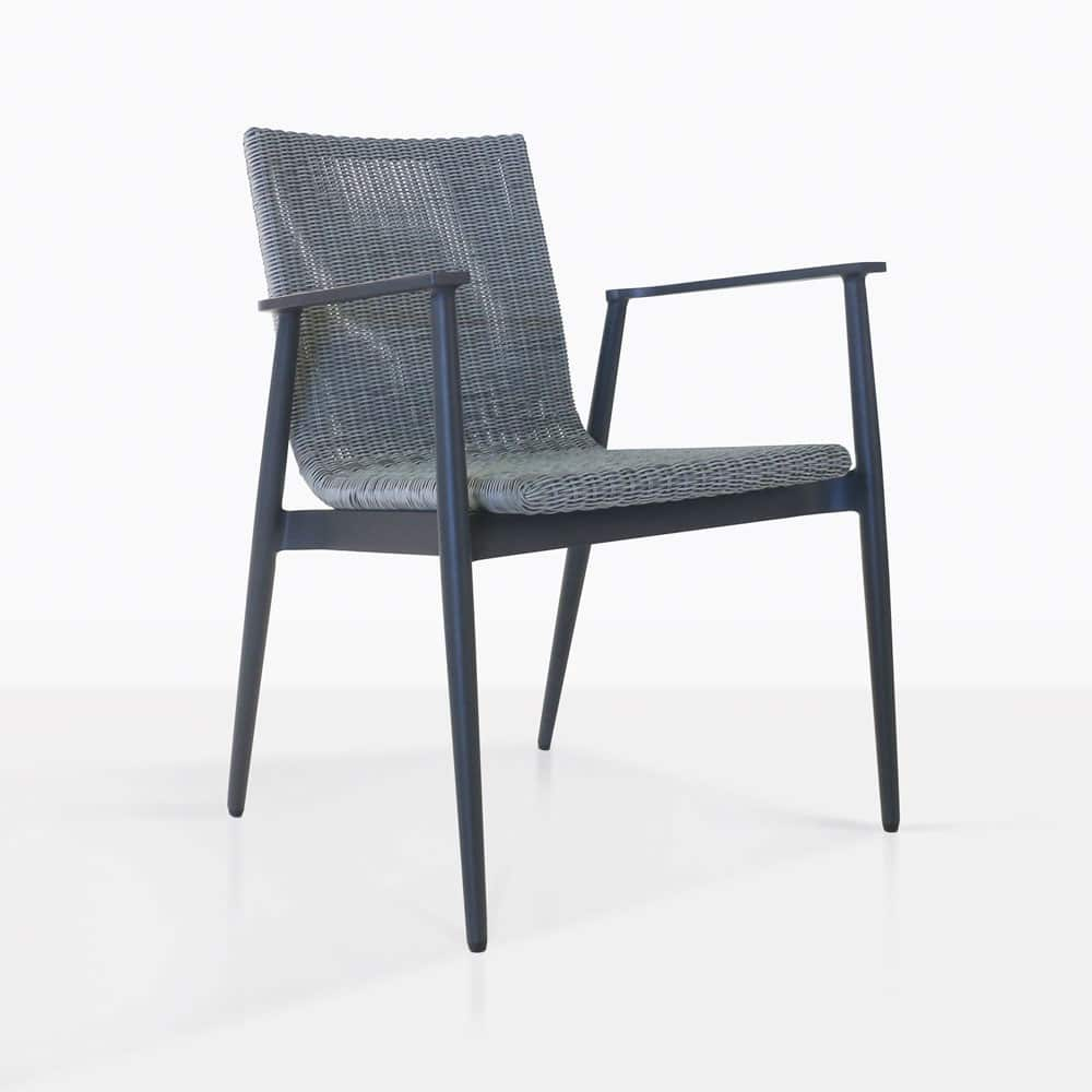 Baltic Aluminium and Wicker Outdoor Dining Chair  Design