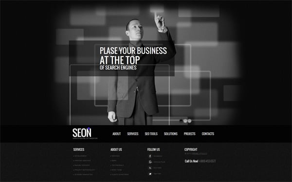 Black And White Website Templates Why Are They So Cool?