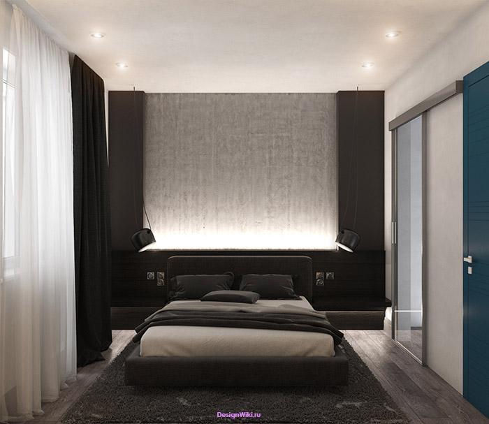 Розетки и выключатели возле кровати в спальне
