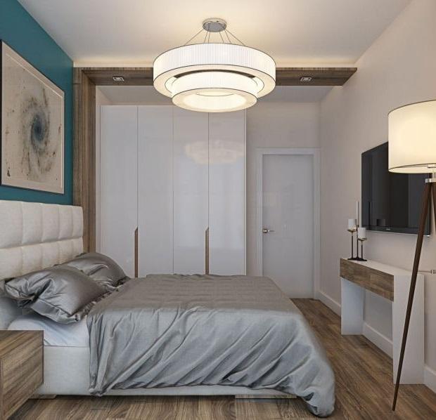 Современный дизайн небольшой спальни