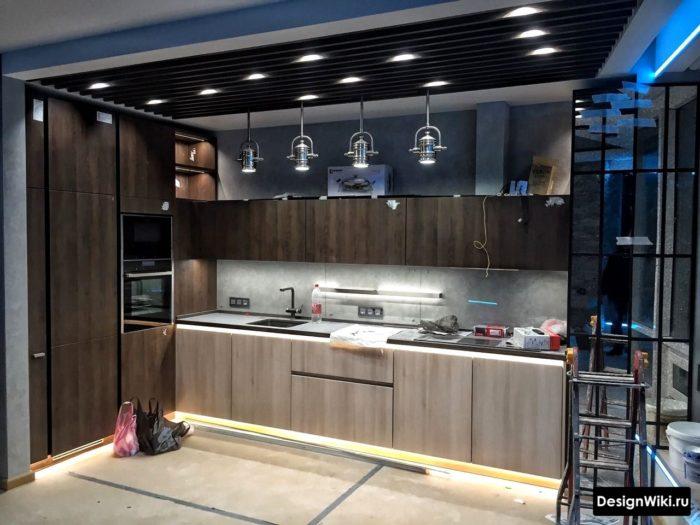 Snygg design av klassiskt kök
