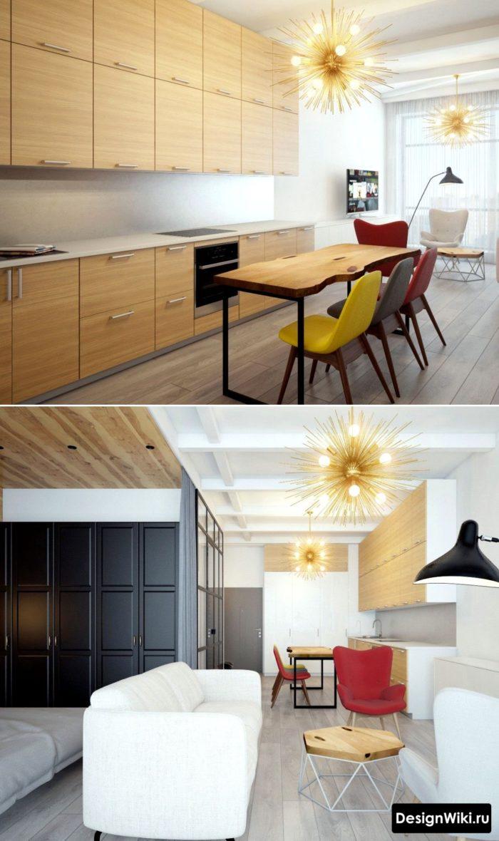 Svartvitt inre kök i stil minimalism