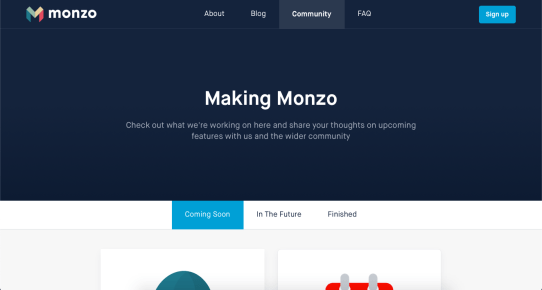 making monzo blog page