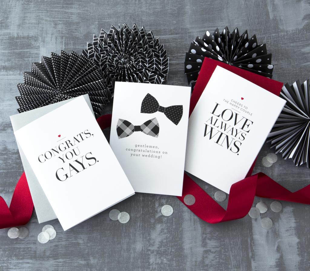Gay Wedding Congratulations Design With Heart Studio