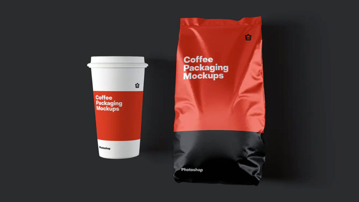 Download coffee bag packaging mockup. 20 Best Coffee Packaging Mockup Templates Design With Red