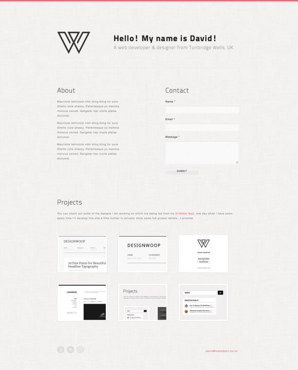 Tutorial: Create A Minimal Single Page Portfolio With
