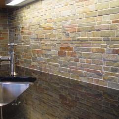 Stone Backsplash Kitchen Red Decor For Unique Design Ideas House