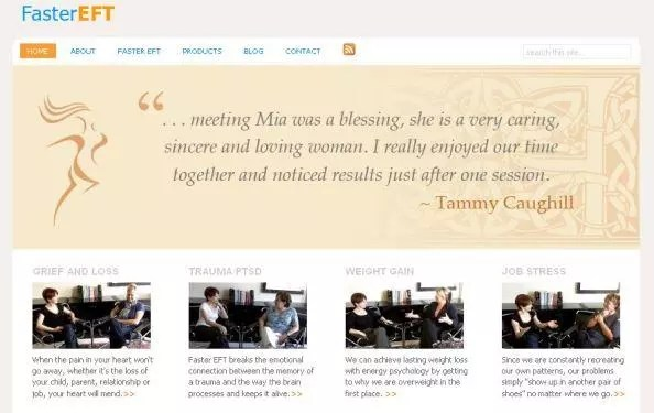 Custom WordPress Self Help Theme | Custom WordPress Designs by Rick Cano