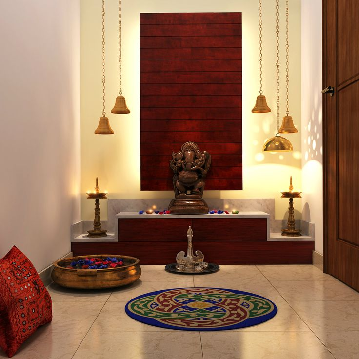 Trendy Color Ideas For Pooja Room In Indian Homes