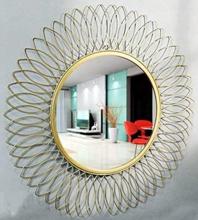 Innovative Living Room Metal Wall Mirrors Ideas