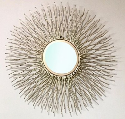 Curly Round Shaped Golden Framed Wall Mirrors