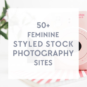 Free Download: Clickable list of 50+ Premium Feminine Styled Stock Photography Sites with tons of freebies! Get this and more free goodies at www.DesignYourOwnBlog.com
