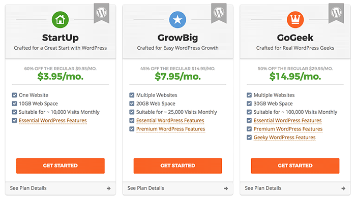 Why I recommend SiteGround over Bluehost for WordPress hosting: Best support, best uptime and speeds, and best security at great prices.