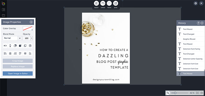 Tutorial: How to Create a Dazzling Blog Post Graphic Template using BeFunky - a DesignYourOwnBlog.com exclusive.