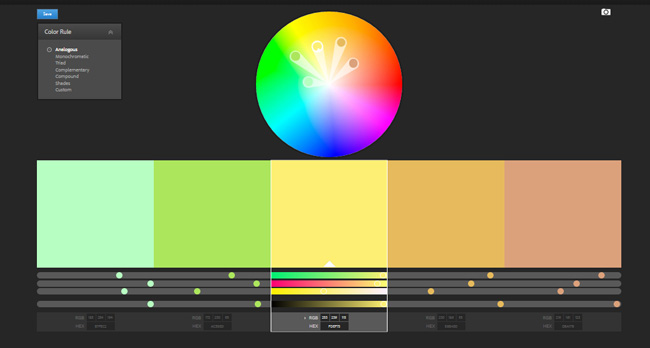 Finding a color palette to match your blog's personality.